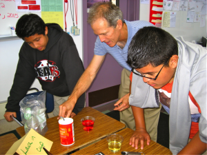 Agilent/Keysight PhD physicists with Graham Middle School students
